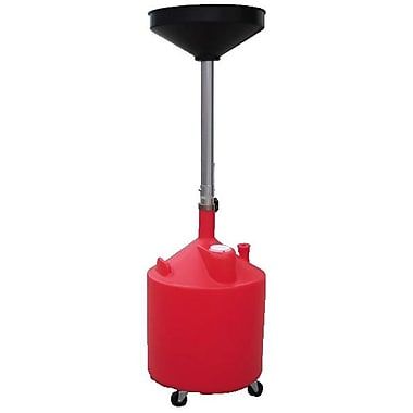 ATD® Plastic Waste Oil Drain with Casters, 18 gal
