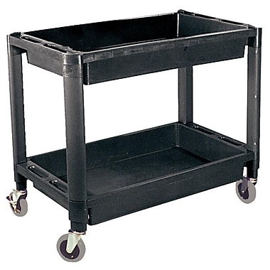 ATD® 2-Shelf Heavy-Duty Plastic Utility Cart