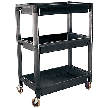 ATD® 3-Shelf Heavy-Duty Plastic Utility Cart