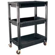 ATD® 3-Shelf Heavy-Duty Plastic Utility Cart