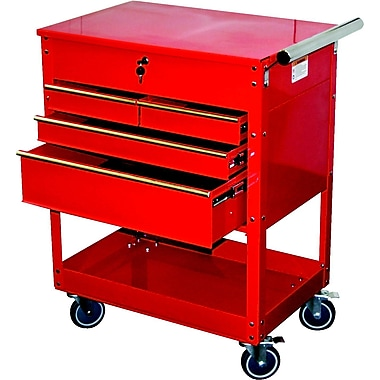 ATD® Professional 4-Drawer Service Cart, Red