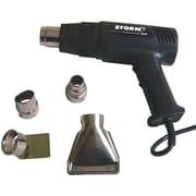 CentralMD Tools StormMC Ensemble pistolet à air chaud numérique de température variable avec 4 embouts, rouge