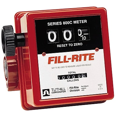 Fillrite® 3-Wheel Mechanical Liter Meter, 3/4