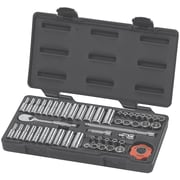 """GearWrench® 1/4"""" Drive 12 Point Standard/Deep and SAE/Metric Socket Set, 51-Piece"""