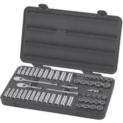 """GearWrench® 3/8"""" Drive 12 Point Standard/Deep and SAE/Metric Socket Set, 57-Piece"""