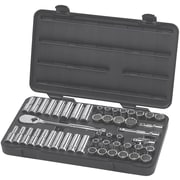 """GearWrench® 1/2"""" Drive 12 Point Standard/Deep and SAE/Metric Socket Set, 49-Piece"""