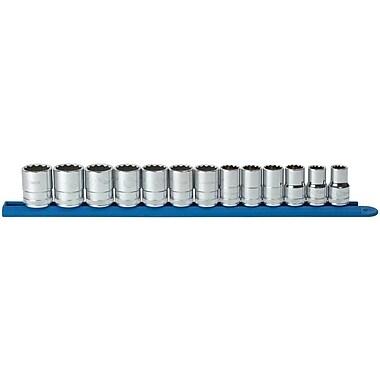 GearWrenchMD – Ensemble de douilles standard SAE à prise de 1/2 po, 12 points, 13 pièces
