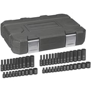 "GearWrench® 1/4"" Drive 6-Point SAE/Metric Drive Impact Socket Set, 48-Piece"