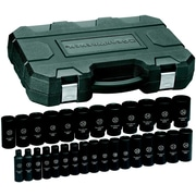 "GearWrench® 1/2"" Drive 6-Point Deep Metric Impact Socket Set, 29-Piece"