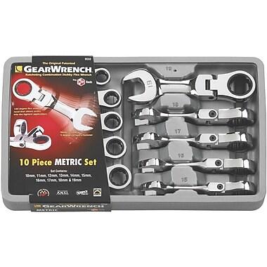 GearWrenchMD – Ensemble de clés à cliquet mixtes tronquées, métrique, 10 pièces