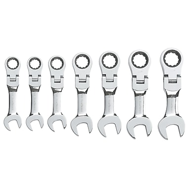 GearWrench® SAE Stubby Flex Combination Ratcheting Wrench Set, 7-Piece