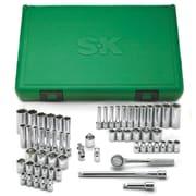 SKMD – Jeu de douilles à 6 pans à prise de 1/4 po, standard/longues, fractionnaires et métriques, 60 pièces