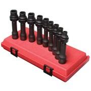 "Sunex® 1/2"" Drive 12 Point Metric Driveline Limited Clearance Impact Socket Set, 9-Piece"