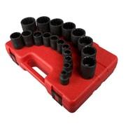 "Sunex® 1/2"" Drive 12 Point SAE Impact Socket Set, 19-Piece"