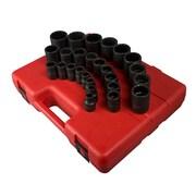 "Sunex® 1/2"" Drive 12 Point Metric Impact Socket Set, 26-Piece"