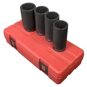 "Sunex® 1/2"" Drive 12 Point Metric Deep Spindle Nut Impact Socket Set, 4-Piece"