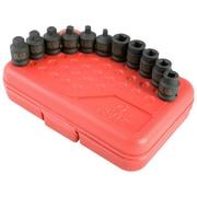 SunexMD – Ensemble de douilles à choc à prise de 3/8 po pour drain/bouchon de tuyau, 11 pièces