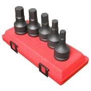 "Sunex® 3/4"" Drive Metric Hex Drive Impact Socket Set, 5-Piece"