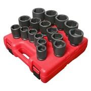 "Sunex® 3/4"" Drive SAE Heavy-Duty Impact Socket Set, 17-Piece"