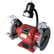 "Sunex 5001A 6"" 1/2 HP Bench Grinder with Light, 3450 RPM"