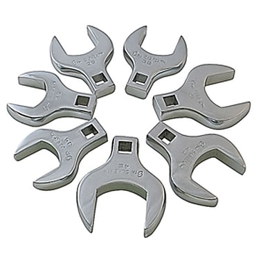 Sunex® Metric Jumbo Straight Crowfoot Wrench Set, 7-Piece