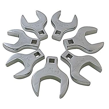 SunexMD – Ensemble de clés droites Jumbo métriques Crowfoot, 7 pièces