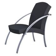 Alba – Chaise de réception pour 1 personne NOVA, gris argenté et noir