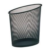 Alba – Corbeille ovale à déchets en maille, capacité de 18 L, noir, 6/paq.