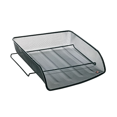 Alba Mesh Letter Trays, Stackable, Front Loading, 6/Pack