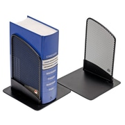 Alba Mesh Bookends, Includes 2 Book Ends Per Set, Black, 3/Pack