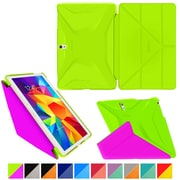 """rOOCASE Origami Polyurethane Folio Smart Case Cover for 10.5"""" Samsung Galaxy Tab S, Electric Green/Peach Pink"""