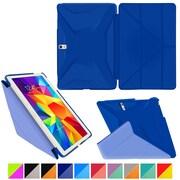"rOOCASE Origami Polyurethane Folio Smart Case Cover for 10.5"" Samsung Galaxy Tab S, Palatinate Blue/Aruba Blue"