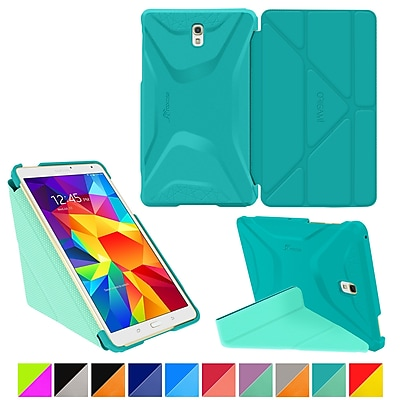 rooCASE Origami 3D Slim Shell Case for Galaxy Tab S 8.4, Turquoise Blue & Mint Candy