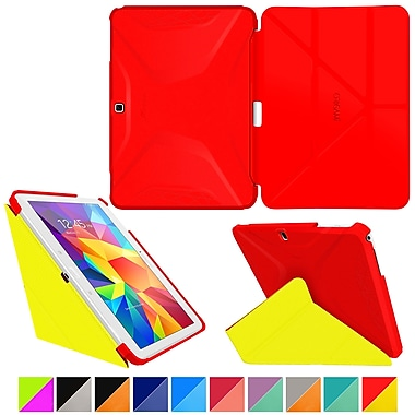 roocase Origami 3D Slim Shell Case for Galaxy Tab 4 10.1 Testarossa Red & Tangerine Yellow