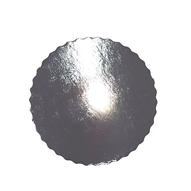 Enjay Cake Board 12 Inch .045 Round Silver D/C Scallop Edge 250/Case