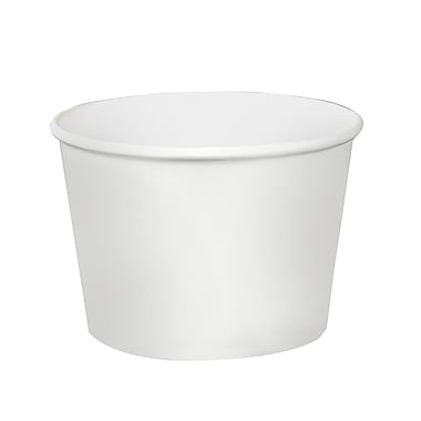 Solo VS51202050 Laminated Insulated Paper Food Containers, 12 oz., White, 1,200/Case