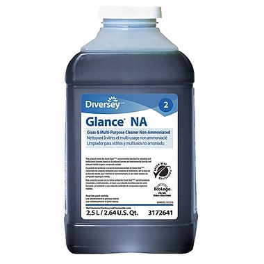 Diversey Glance J-Fill Non-Ammoniated Glass Cleaner, 2.5 L, 2/Case