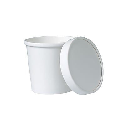 Solo Flexstyle Paper Container with Vented Lid, 12 oz., White, 250/Case