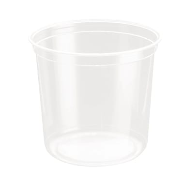 Solo Recycable Gourmet Deli Container, 24 oz., Clear, 500/Case