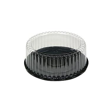 Base à gâteau en polyéthylène et couvercle en dôme strié de 3,5 po, 100/boîte