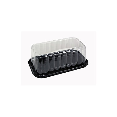 Priented Polystyrene Barcake Rose Dome And Lid Combo Pack, 4-1/4