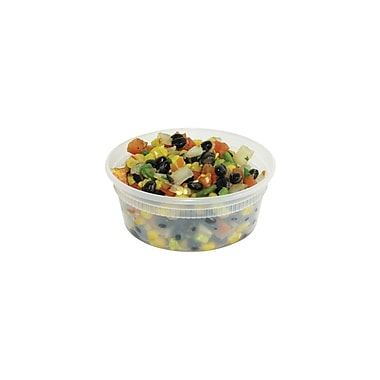 Delitainer Deli Container, Clear, 8 oz./227 G., 480/Case