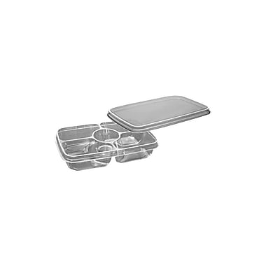 Deli 4-Cell Platter Combo Container with Lid Combo Pack, 11