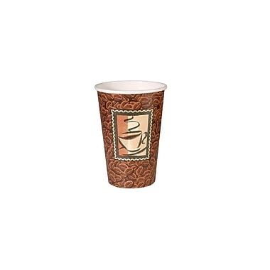 Dixie Hot Beverage Java Design Paper Cups, 16 oz., 1,000/Case