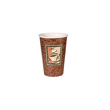 Dixie – Gobelets en papier pour boissons chaudes à motif Java, 16 oz,1000/boîte