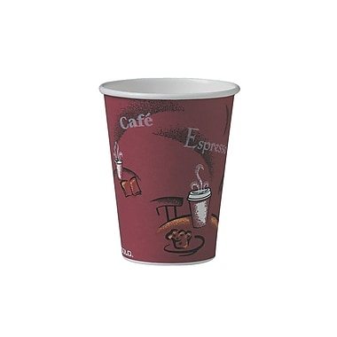 Solo Paper Hot Drink Cup, Bistro Design, 12 oz., 1000/Case