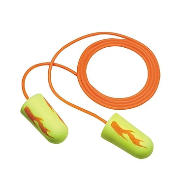 Disposable Foam Ear Plugs With Cord, Aearo Neon Blast Design, 2,000 Pairs/Case