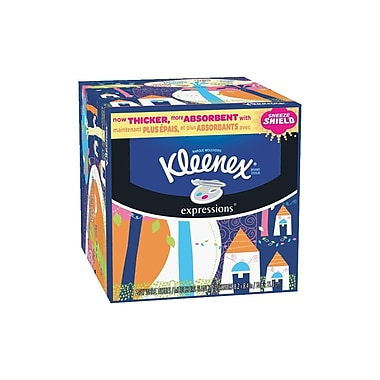 Kleenex Expressions Facial Tissue, 2-Ply, White, 74 Sheets/Box, 27 Boxes/Case