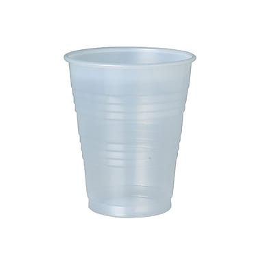 Solo Galaxy Cold Ribbed Plastic Cups, 14 oz., Translucent, 50/Pack, 1000/Case