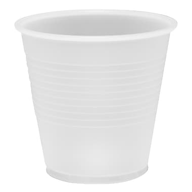 Conex Plastic with Raised Sidewall Cups, 5 oz., Translucent, 25/Pack, 100/Case
